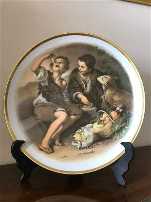 """Hutschenreuther 13"""" Large Charger Plate Melon Eater Boy"""