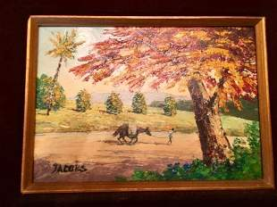 Jacobs Oil Painting Man with a Horse