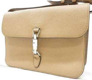 GUCCI Jackie Soft Tan Pebbled Leather Bag