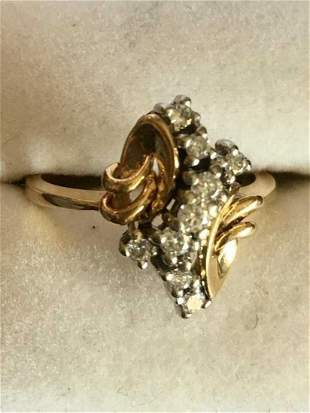 Ladies 14K Yellow Gold 0.5CT Diamond Ring