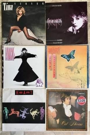 Lot 6 LP's Vinyl Records Tina Turner Heart Stevie Nicks