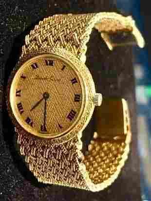 Bueche Girod BG 18K Yellow Gold Ladies Watch