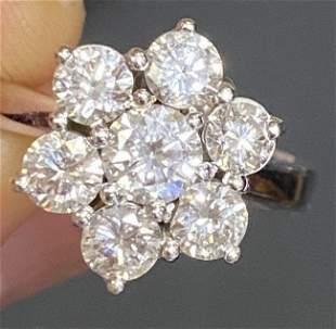 Diamond 1.5ct Ring in 18K white gold