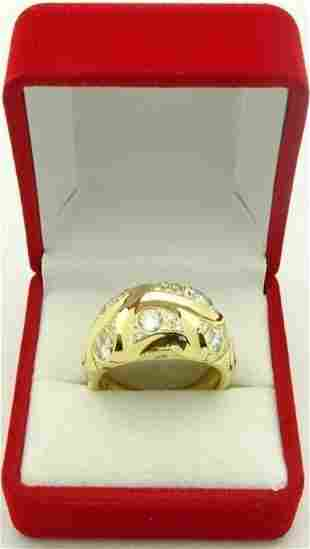 PEDRO BOREGAARD Paysley 18k Gold Ring 2ct Diamond