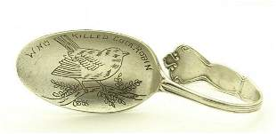 Vintage S&P Sterling Silver Baby Spoon Who Killed Cock