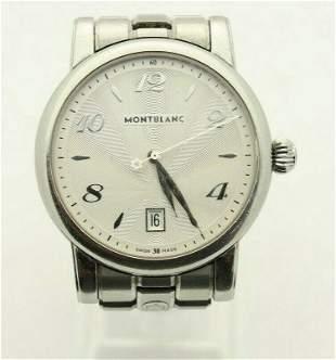 Montblanc 108761 Star Date Quartz Men Silver Dial Watch