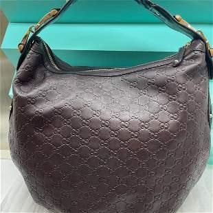 Gucci Shoulder Hobo Bag brown Leather