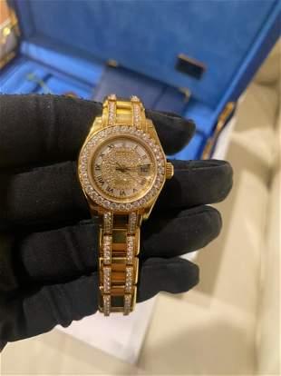 ROLEX Oyster Perpetual Datejust Pearlmaster Diamond Wat