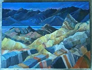 Daryl Miller Oil Painting on Canvas Mountains