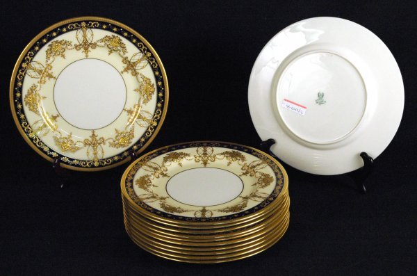 2: Lenox Porcelain Gilt and Banded Plates
