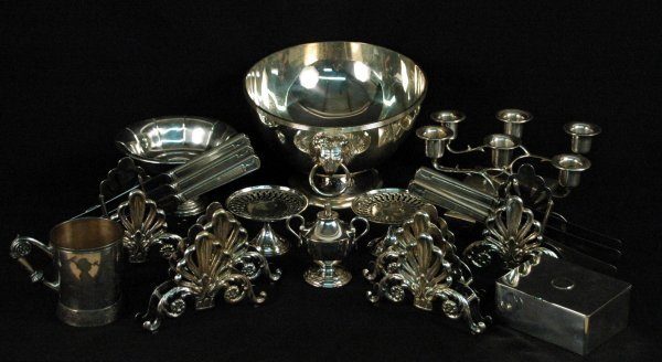 4: Collection Sterling and Plate Table Articles