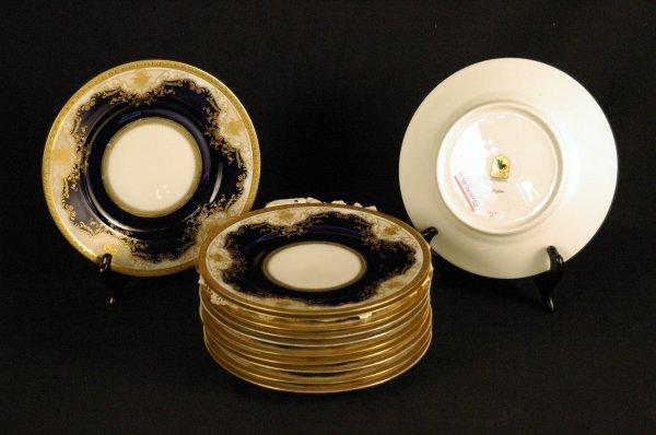 "5: Black Knight Porcelain Plates, ""Regina"""