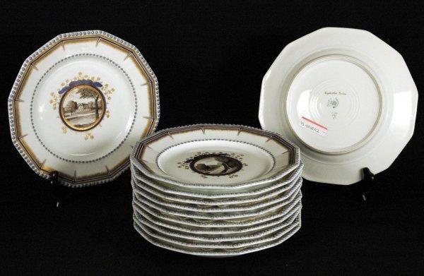 8: Nymphenburg Porcelain Cabinet Plates