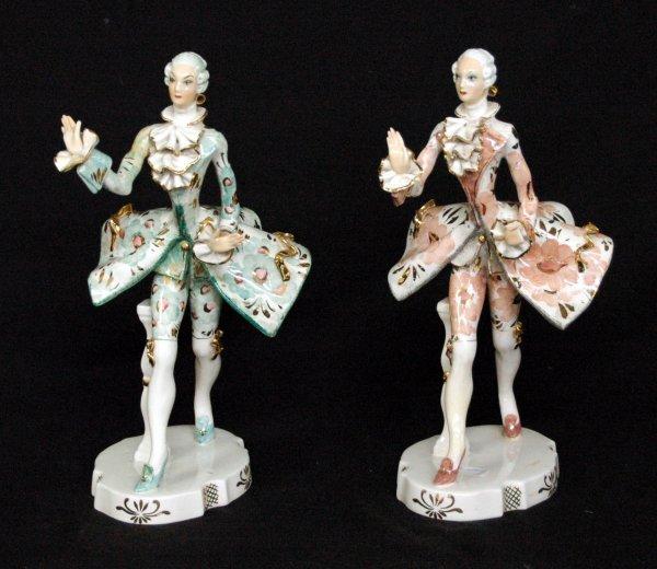 9: Pair of Italian porcelain figures