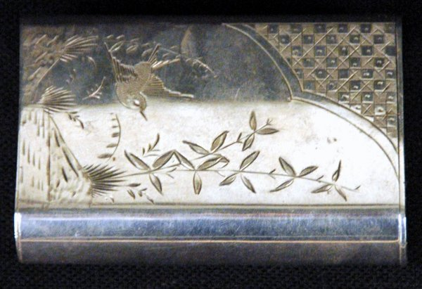 10: Silver Anglo Japanese Card Case