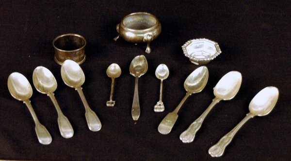 11: Collection of Sterling Silver Table Articles