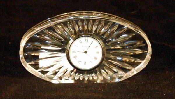 12: Waterford crystal desk clock