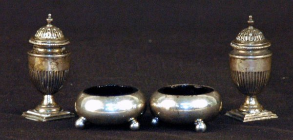 13: Sheffield Sterling Silver Salts and Shakers