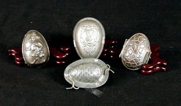 15: Four Antique Chocolate Molds RARE