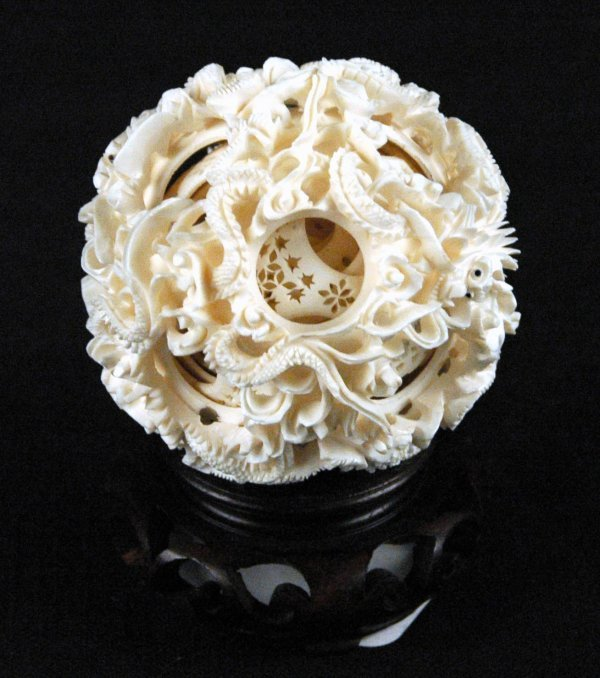 20: Chinese Carved Ivory Puzzle Ball