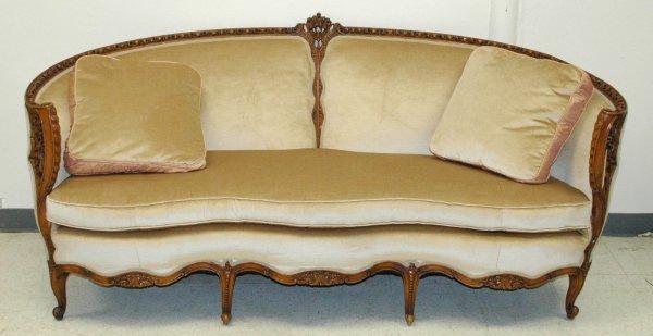 173: French Carved Frame Upholstered Sofa