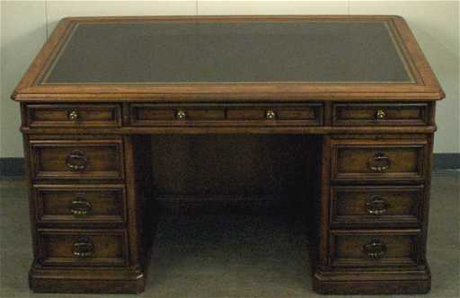 - 308: Sligh Lowry Leather Top Bankers Desk