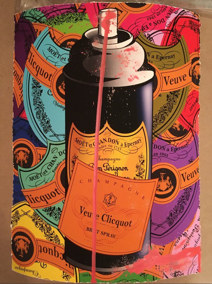 Mr Clever Art Dom Perignon Spray Can Hand Finished