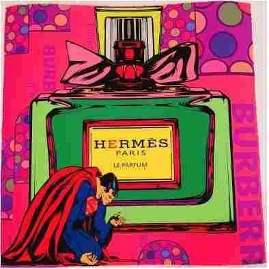 Mr Clever Art Superman Kneeling to Hermes Parfum Print