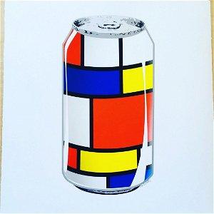 Mr Clever Art Mondrian Soda Pop Can Limited Print