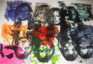 Mr Clever Art Kate Moss Multiples Painting
