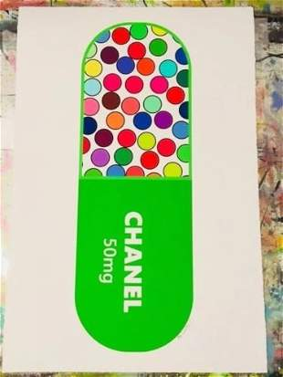 Mr Clever Art Chanel No 5 Green Luxury 50mg Pill Print