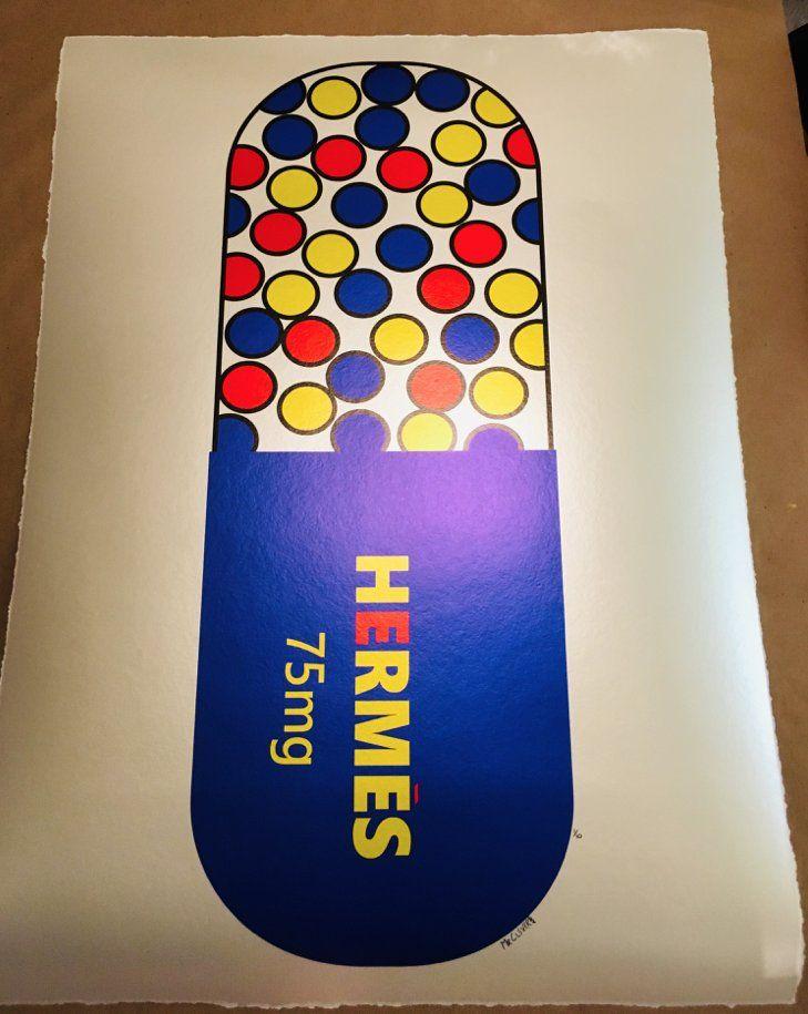 Mr Clever Art Hermes Luxury 75mg Blue Pill Metallic