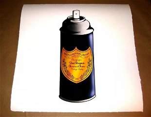 Mr Clever Art Dom Perignon Spray Can Luxury Print