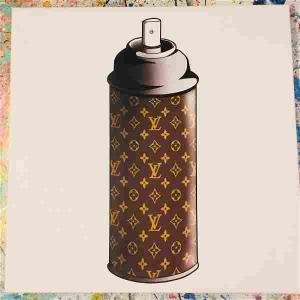 Louis Vuitton LV Diamonds Spray Can Painting Mr Clever