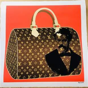 Louis Vuitton LV Founder Handbag Print by Mr Clever Art