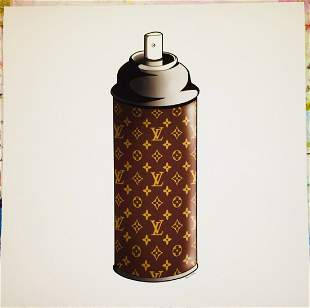 Louis Vuitton LV Spray Can Print by Mr Clever Art