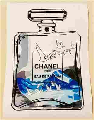 Mr Clever Art Chanel No 5 Vodka Parfum Print