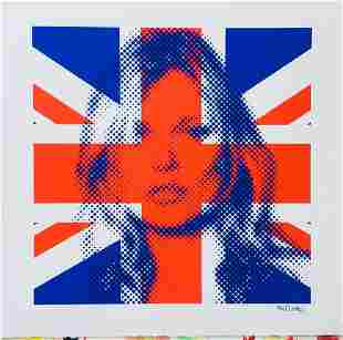 Kate Moss Union Jack Limited Print Mr Clever Art