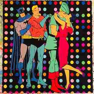 Mr Clever Art Walk Of Shame Batman Aquaman DC Print