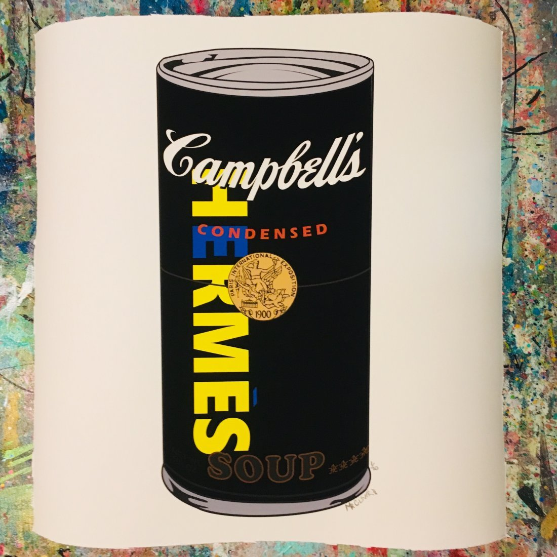 Hermes Luxury Campbells Soup Can Print by Mr Clever Art