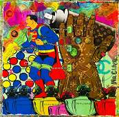 Mr Clever Art SUPERMAN REALITY STONE Limited Edition LV