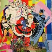 Mr Clever Art SANTA CLAUS SUPERHERO HELPER batman robin