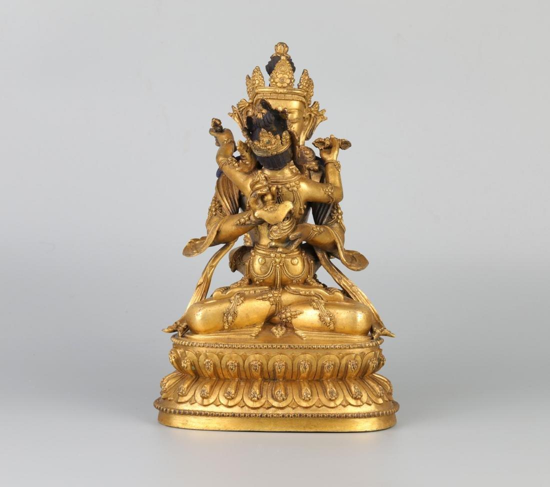 A Chinese Gilt Bronze Buddha