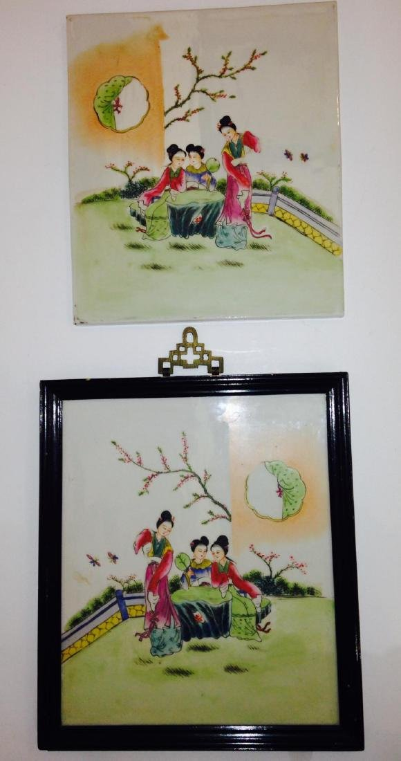 Pair of Family Rose Japanese Plaque 19th Century - 4