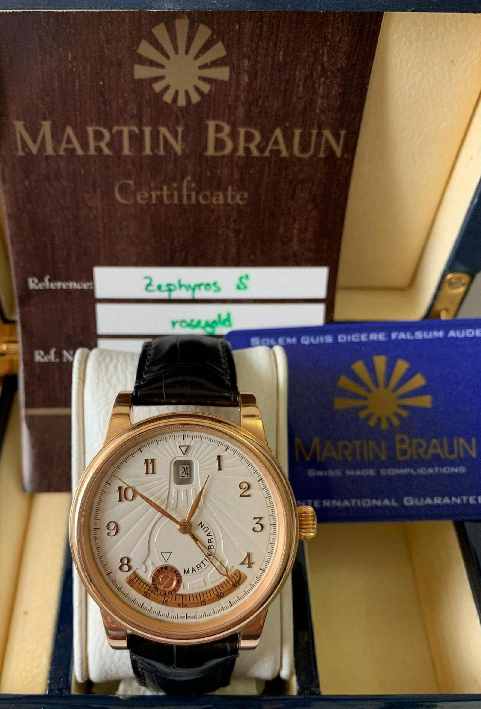 Martin Braun 18KT Rose Gold Zephyros Wristwatch With