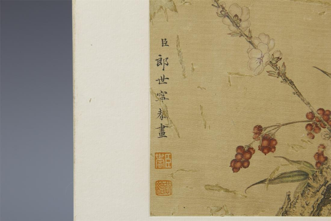 A Chinese  Scroll Painting  Signed by Langshining - 10