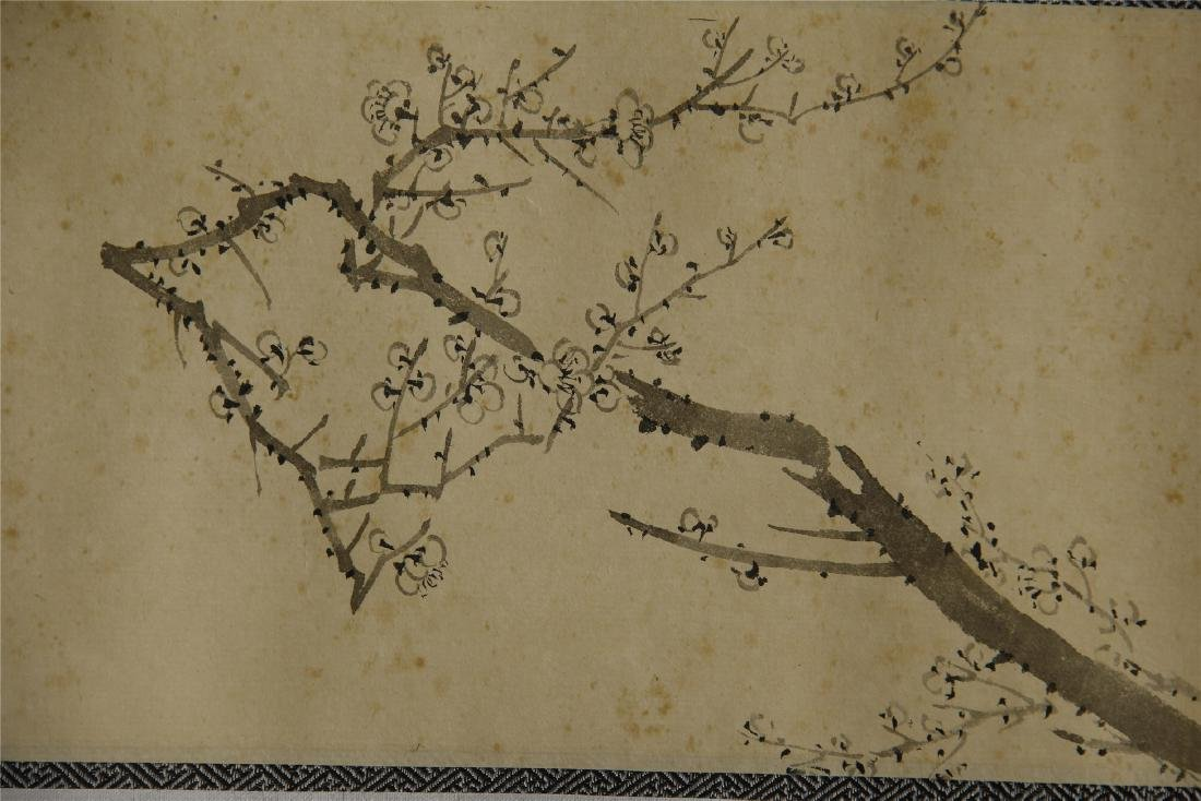 Four Chinese Scroll Paintings of Flowers by Zhang Boju - 4