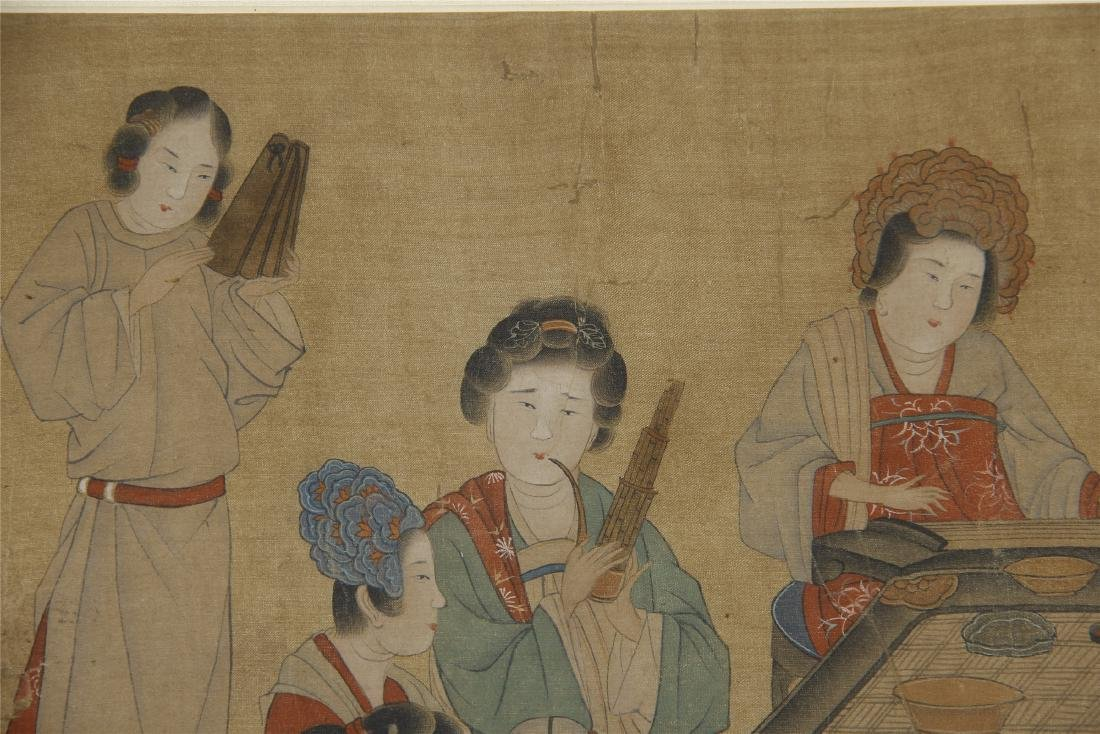 An Anonymous Chinese Silk Scroll Painting - 3