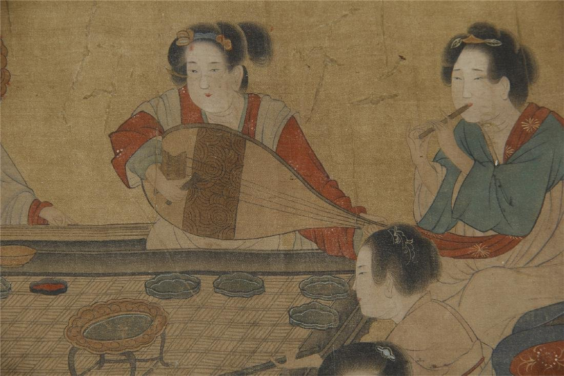 An Anonymous Chinese Silk Scroll Painting - 4