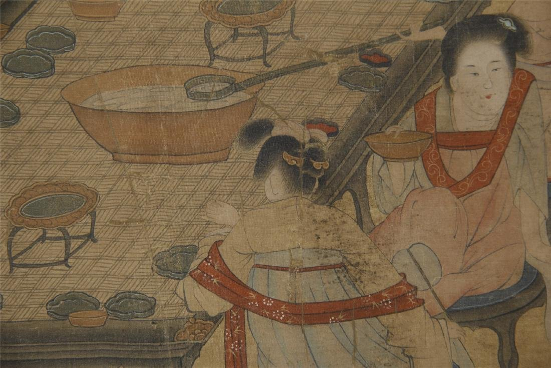 An Anonymous Chinese Silk Scroll Painting - 5
